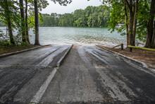 Boat Ramp At The Lake