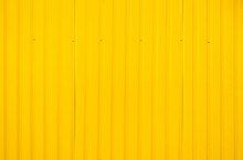 Yellow Metal Tile Fence Backgr...