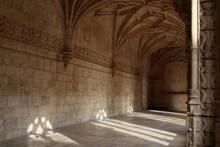 Stone Hallway In Monastery