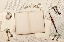 Open Book Old Handwritings Vin...