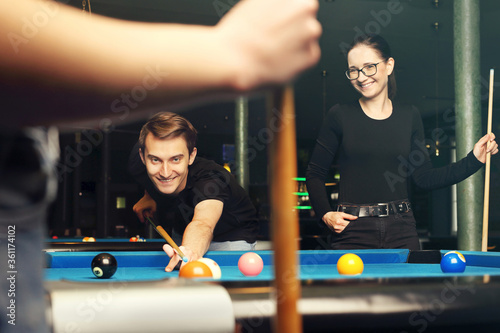 Fotografia Billiard game