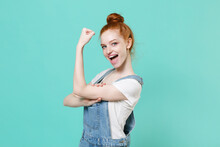 Strong Young Readhead Girl In ...