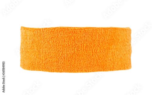 Photo Training headband isolated on a white background. Orange color.