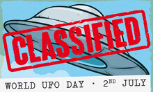 Classified Stamp Over Flying S...