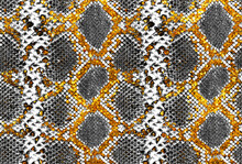 New Gold Snakeskin. Gold Leather. Original Snake Skin. New Gold Plated Snake Leather