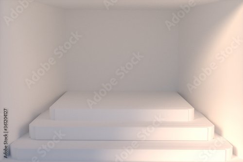 Fototapeta Empty podium or pedestal display background stand concept
