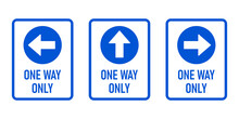 Set Of One Way Only Vertical W...