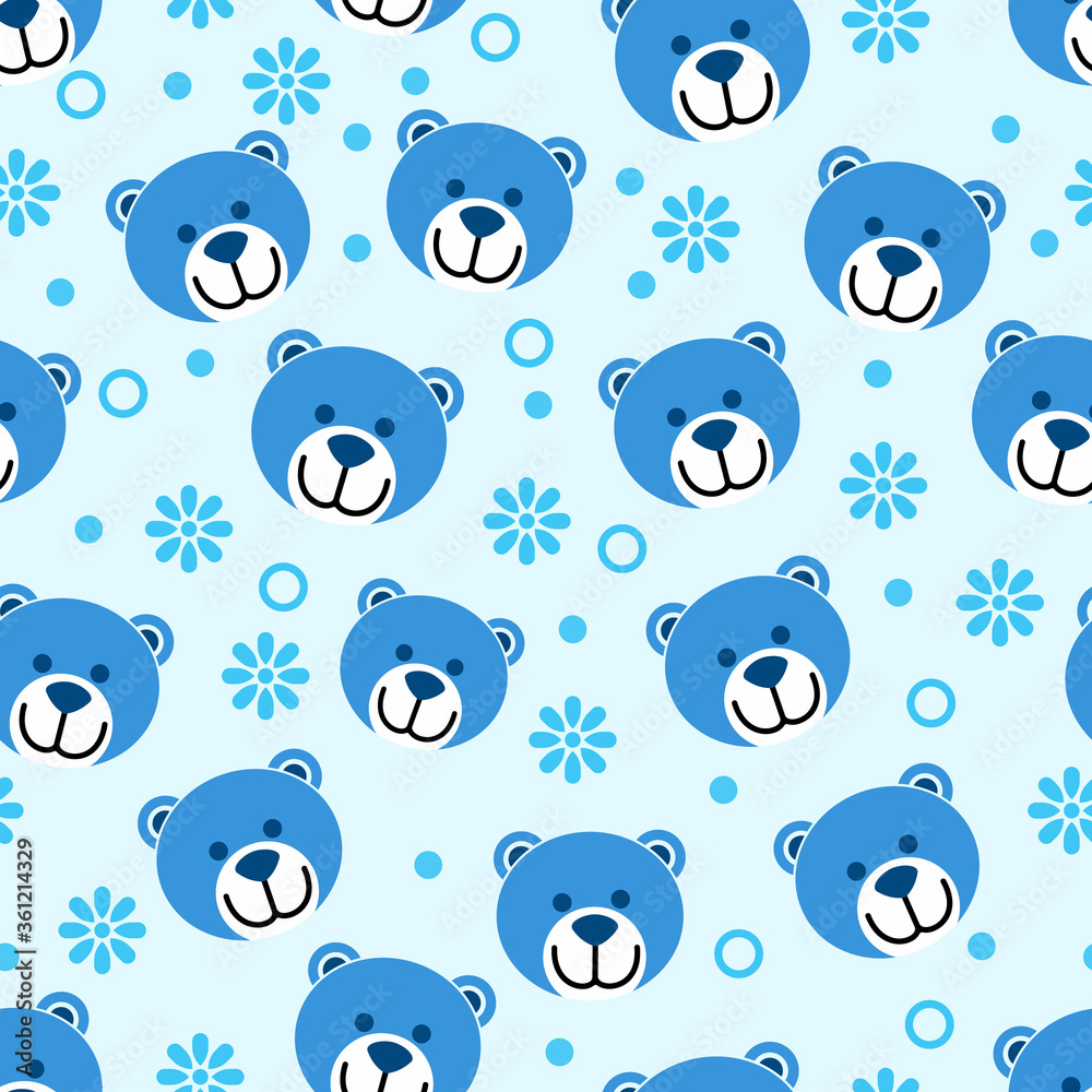 bear vector pattern