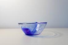 Closeup Shot Of A Blue Glass B...