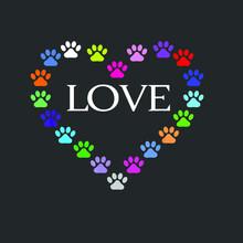 Cute Colorful Heart I Love My ...