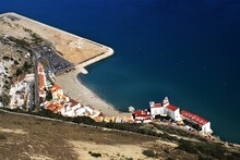 Aerial View Of A Port With Bui...