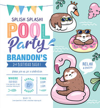 Kids Birthday/ Pool Party Invi...