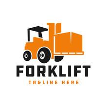 Forklift Vector Logo Design Your
