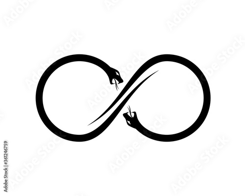 Fotomural Infinity logo with two snake