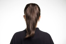 Back View Of A Female Dark Bro...