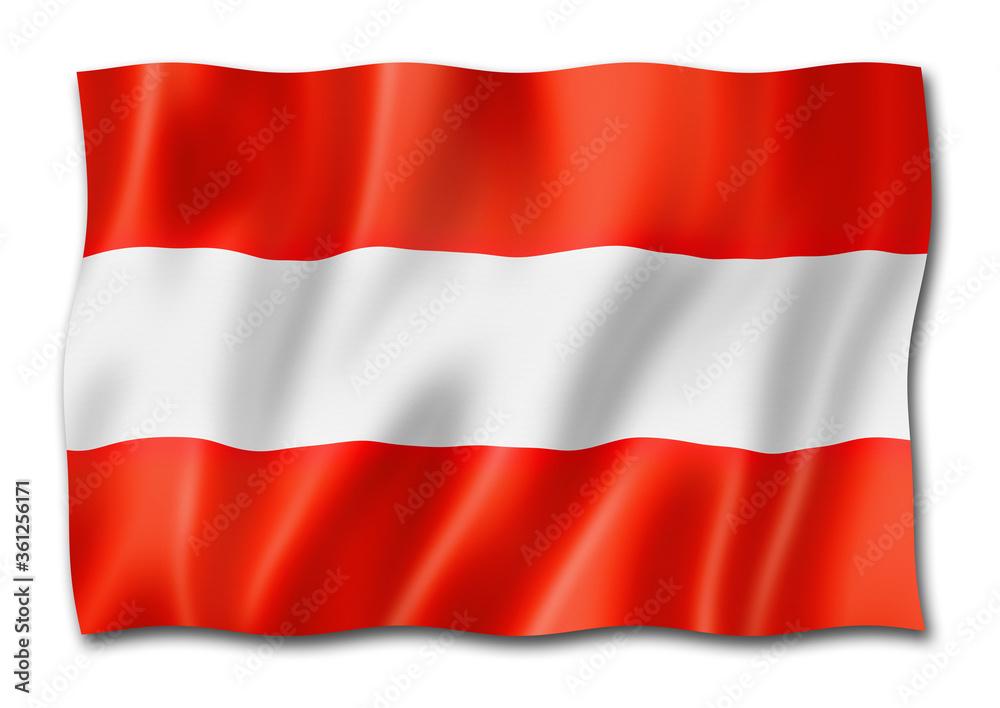 Fototapeta Austrian flag isolated on white