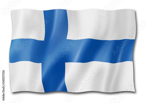 Fotografie, Obraz Finnish flag isolated on white