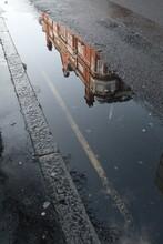 High Angle Shot Of A Street Pu...