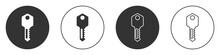 Black House Key Icon Isolated ...