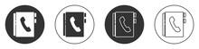 Black Address Book Icon Isolat...