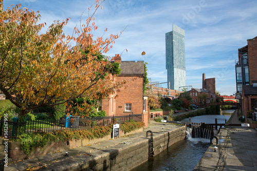 Manchester, Greater Manchester, UK, October 2013, Beetham Tower, aka Hilton Hote Canvas Print