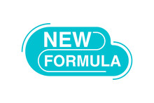 New Formula Stamp - Rounded Emblem For New Product Line - Isolated Vector Badge