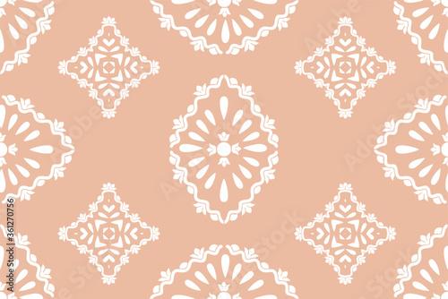 Photo Flower damask ornate seamless pattern
