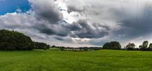 Gloomy Thunderclouds Over A Ru...