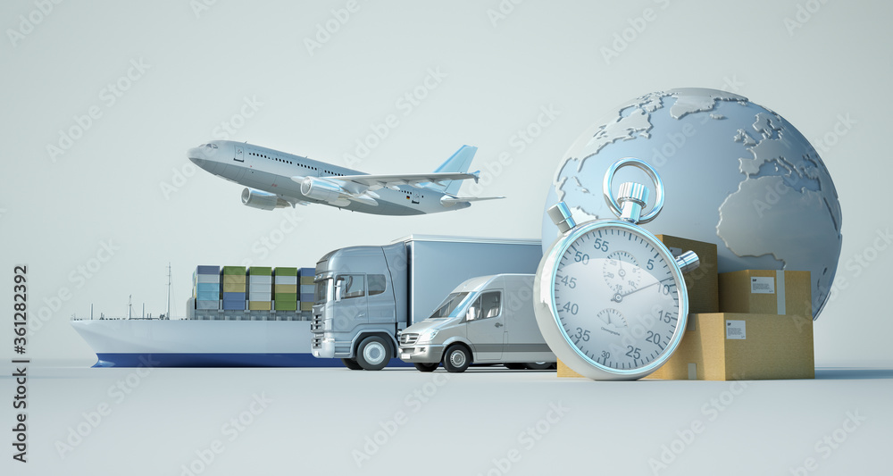 Fototapeta International express transportation