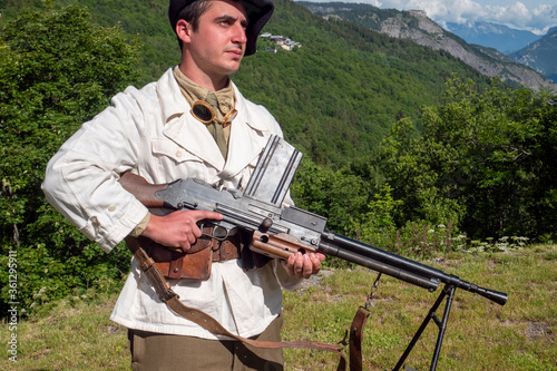 Foto French mountain infantry soldier during the Second World War