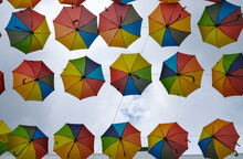 Umbrellas Hanging From The Top...