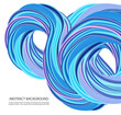 Blue wave on a white background.Flow of a liquid blue wave.Wave background