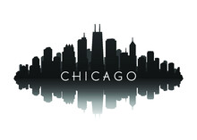 Chicago Skyline In Black With ...