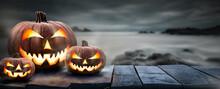Three Spooky Halloween Pumpkin...