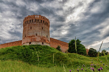 Old Fortress On A Green Hill. ...