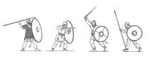 Battle Between Roman Soldiers ...