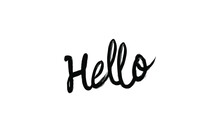 Hello Card Poster Calligraphy ...
