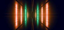 Neon Laser Orange Green Pillar...