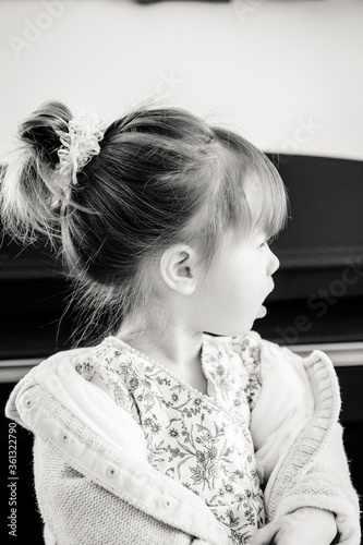 Foto enfant chignon