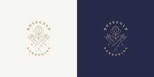 Vector Line Logos Emblems Desi...