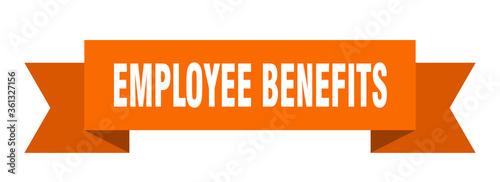 Fototapeta employee benefits ribbon. employee benefits isolated band sign. employee benefits banner obraz