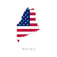 Shape Of Maine State Map With ...