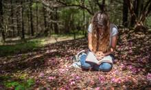Young Teen Girl Reading Bible ...
