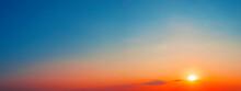 Panorama Of Dramatic Sunset Sk...