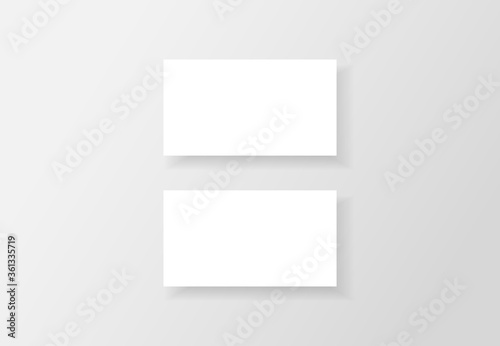 Business Card Mockups White Business Cards Isolated On Clean Background Blank Business Cards Template Name Card Design Contact Card For Company Vector Illustration Buy This Stock Vector And Explore Similar Vectors