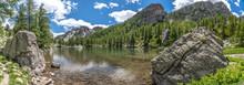 Panorama Sur Le Parc Du Mercantour - Landscape On French Mountain