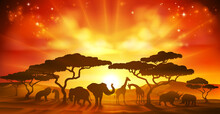 An African Savannah Landscape ...