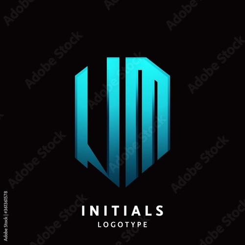 UM initial letter logo design modern template Canvas Print
