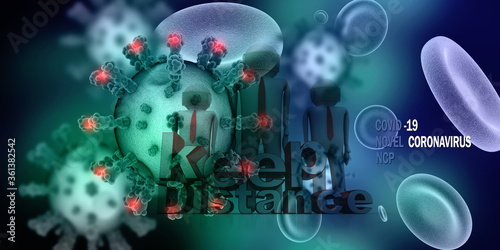 Photo 3d rendering red streaming blood cells background.