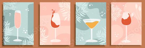 Abstract still life in pastel colors posters Fototapeta